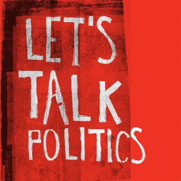 Let's talk politics type copy